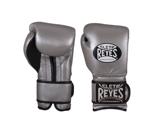 Cleto Reyes Velcro Sparring Boxing Gloves - Platinum