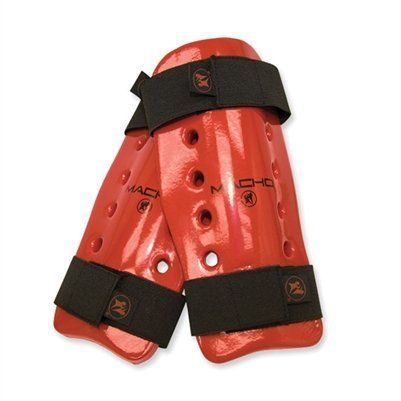 macho-dyna-shin-guards-red