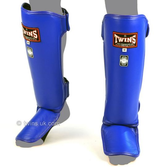 Twins Special Slim Shin Guards - Blue