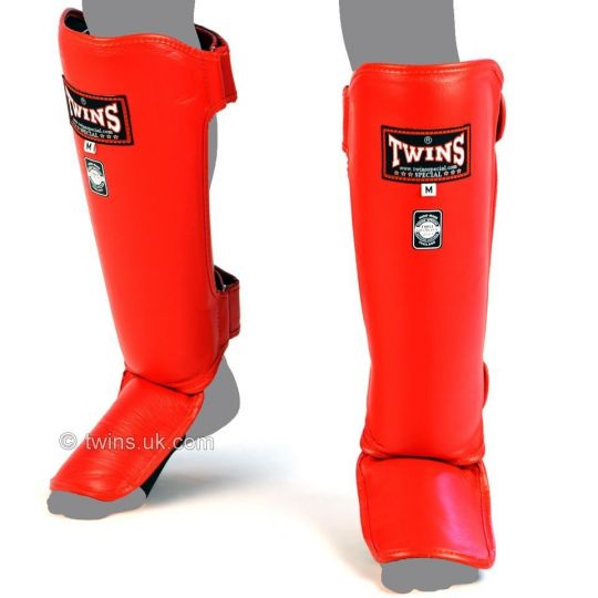 Twins Special Slim Shin Guards - Red