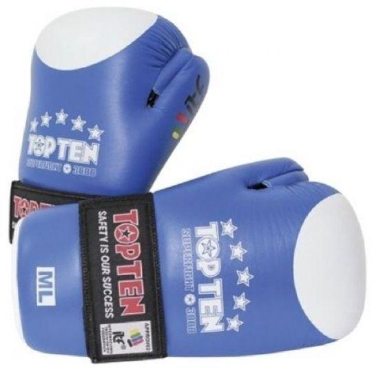 Top Ten Open Hand Superfight ITF Gloves - Blue