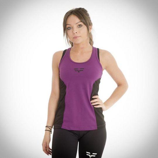Gym Freak Womens Active Vest - Purple
