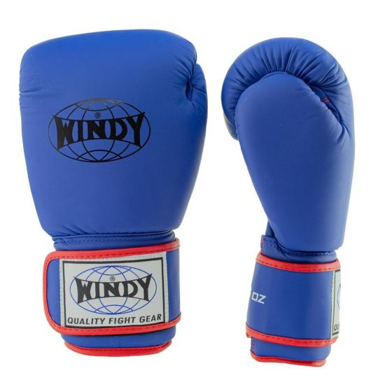 Windy Classic Boxing Gloves - Blue/Red