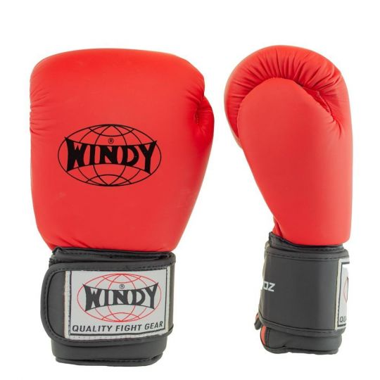 Windy Classic Boxing Gloves - Red/Black