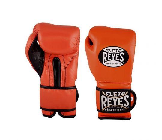 Cleto Reyes Velcro Sparring Gloves - Orange