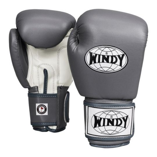 Windy Classic Boxing Gloves - Grey/White