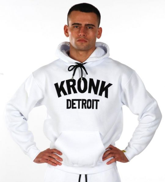 Kronk Detroit Applique Hoodie - White