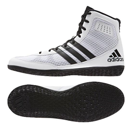 Adidas Mat Wizard 3 Wrestling Boots - White/Black - 8UK