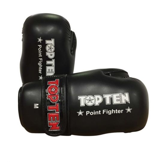 Top Ten Pointfighter Gloves - Black - Small