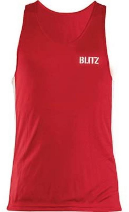 Blitz Adult Boxing Vest - Red - Youth Large