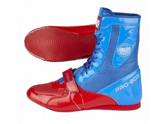 Pro Box Speed Lite Junior Boxing Boots - Blue/Red
