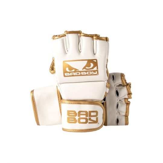Bad Boy MMA Fight Gloves - White/Gold