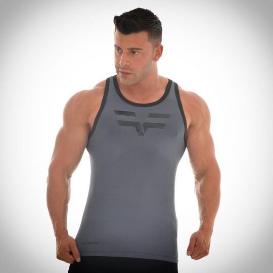 Gym Freak Mens Pro Vest - Grey