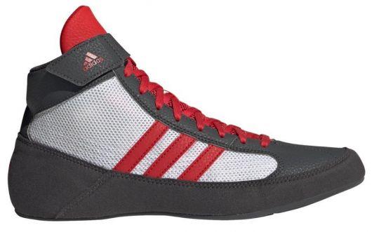 Adidas Havoc Adult Wrestling Boots - Grey/Red
