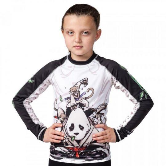 Tatami Kids Gentle Panda BJJ Rash Guard