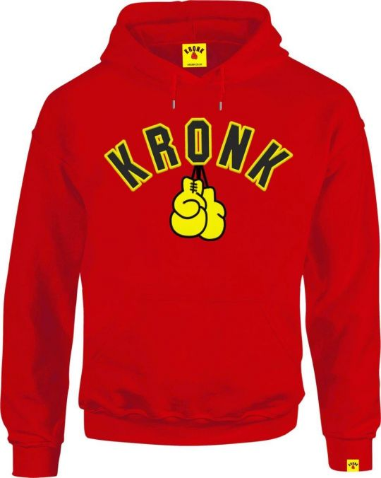 Kronk Gloves Applique Hoodie - Red