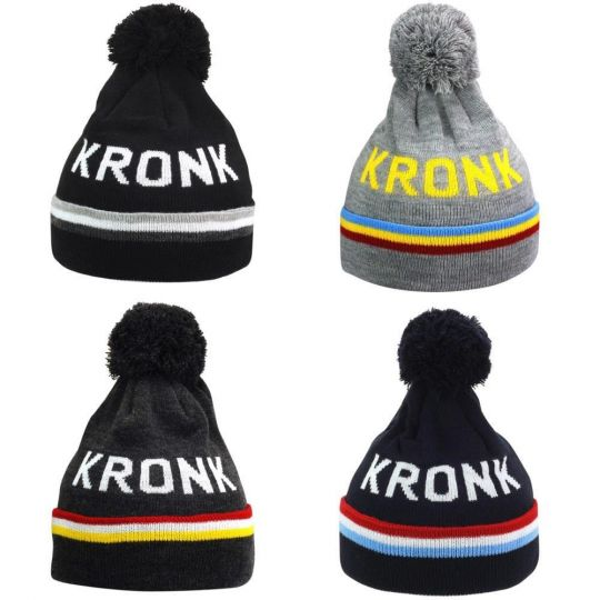 Kronk Detroit 3 Stripe Bobble Hat