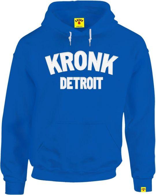 Kronk Detroit Applique Hoodie - Royal Blue