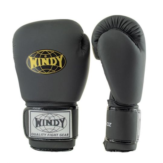Windy Classic Boxing Gloves - Black/Gold