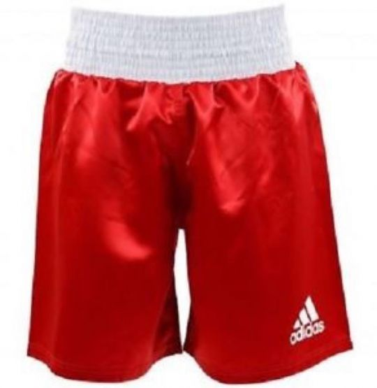 Adidas Satin Boxing Shorts - Red/White - XLarge