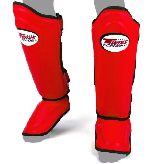 Twins Double Padded Shin Guards - Red