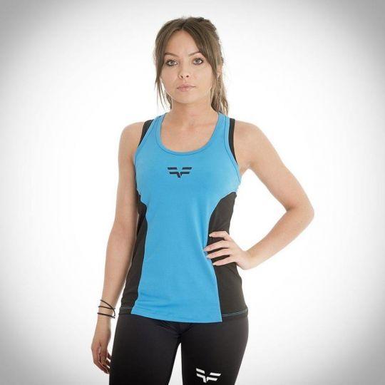 Gym Freak Womens Active Vest - Blue