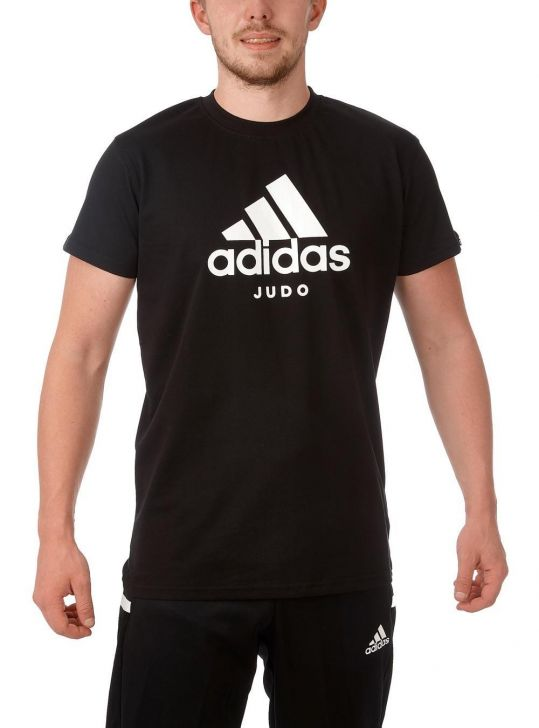 Adidas Judo T-Shirt - Black/White - Large