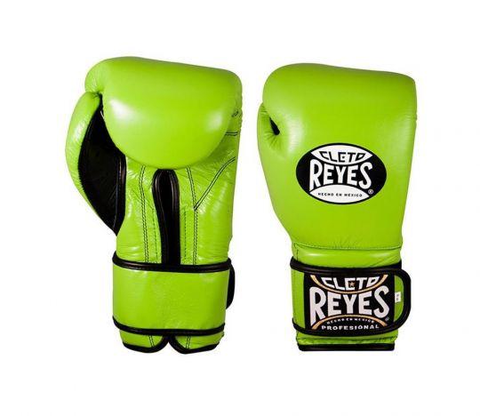 Cleto Reyes Velcro Sparring Gloves - Green