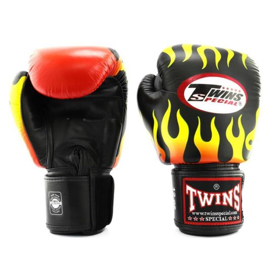 Twins Fire Flame Boxing Gloves