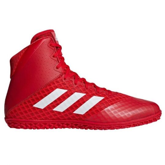 Adidas Mat Wizard 4 Wrestling Boots - Red/White - 10.5UK
