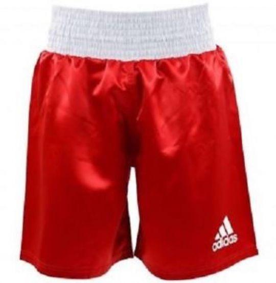 Adidas Satin Boxing Shorts - Red/White - XSmall