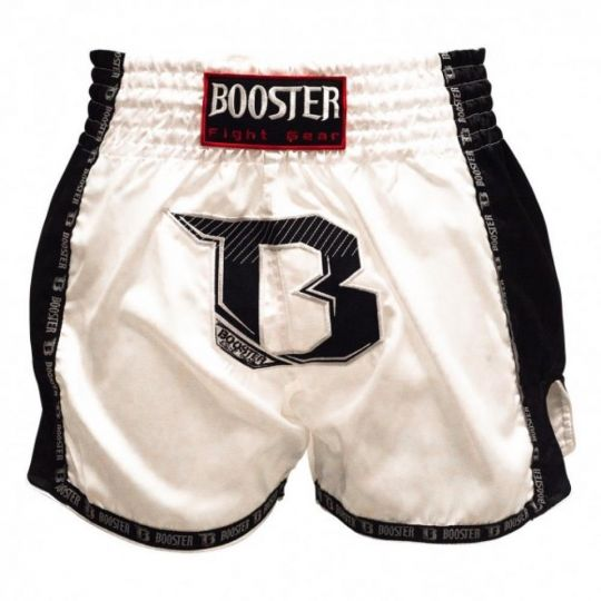 Booster Pro Muay Thai Shorts - White/Black