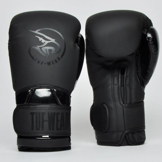 Tuf Wear Atom Boxing Gloves - Matt Black