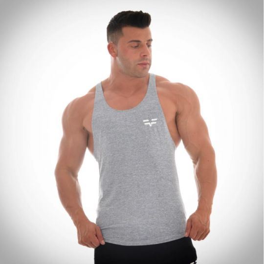 Gym Freak Mens Fusion Vest - Grey
