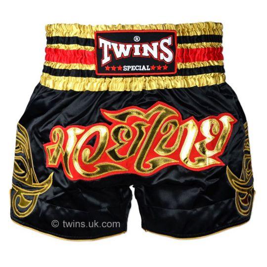 Twins Black/Gold Muay Thai Shorts