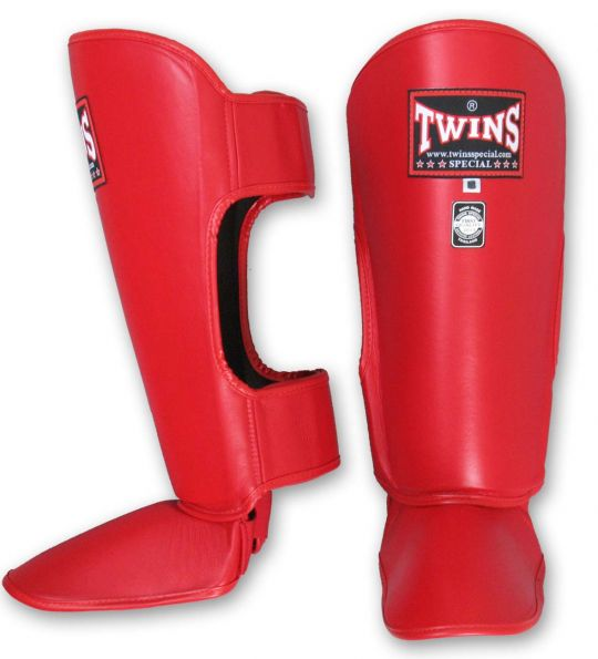 Twins Special Shin Guards - Red
