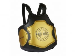 Pro Box Hi Impact Coaches Body Protector - Black/Gold