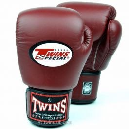 Twins Boxing Gloves - Burgundy