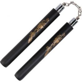 Black Foam Safety Ball Bearing Nunchaku 12''
