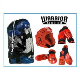 Kids Macho Warrior Combat Kit - Red