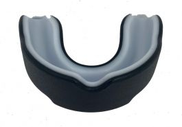 Playerz Boxing Adult Mouth Guard - Black/White