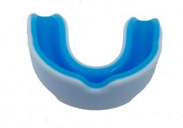 Playerz Boxing Adult Mouth Guard - White/Blue