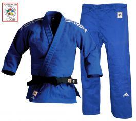 Adidas IJF Approved Champion 2 Judo Uniform - Blue - Slim Fit