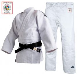 Adidas IJF Approved Champion 2 Judo Uniform - White - Slim Fit