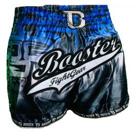Booster Labyrint Muay Thai Shorts - Black/Blue