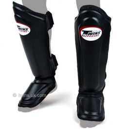 Twins Double Padded Shin Guards - Black