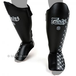 Fairtex Muay Thai Shin Pads - Black