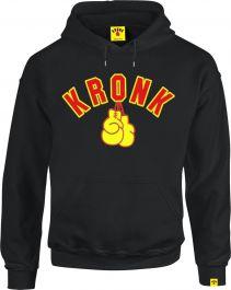 Kronk Gloves Applique Hoodie - Black