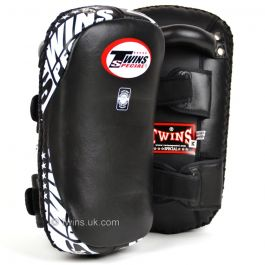 Twins Standard Curved Kick Pads - Black/White