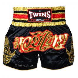 Twins Muay Thai Shorts - Black/Gold
